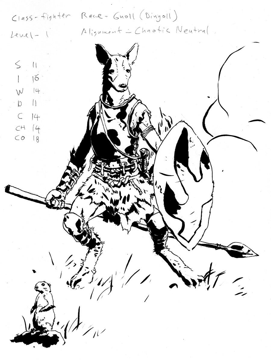 Gnoll Sketch