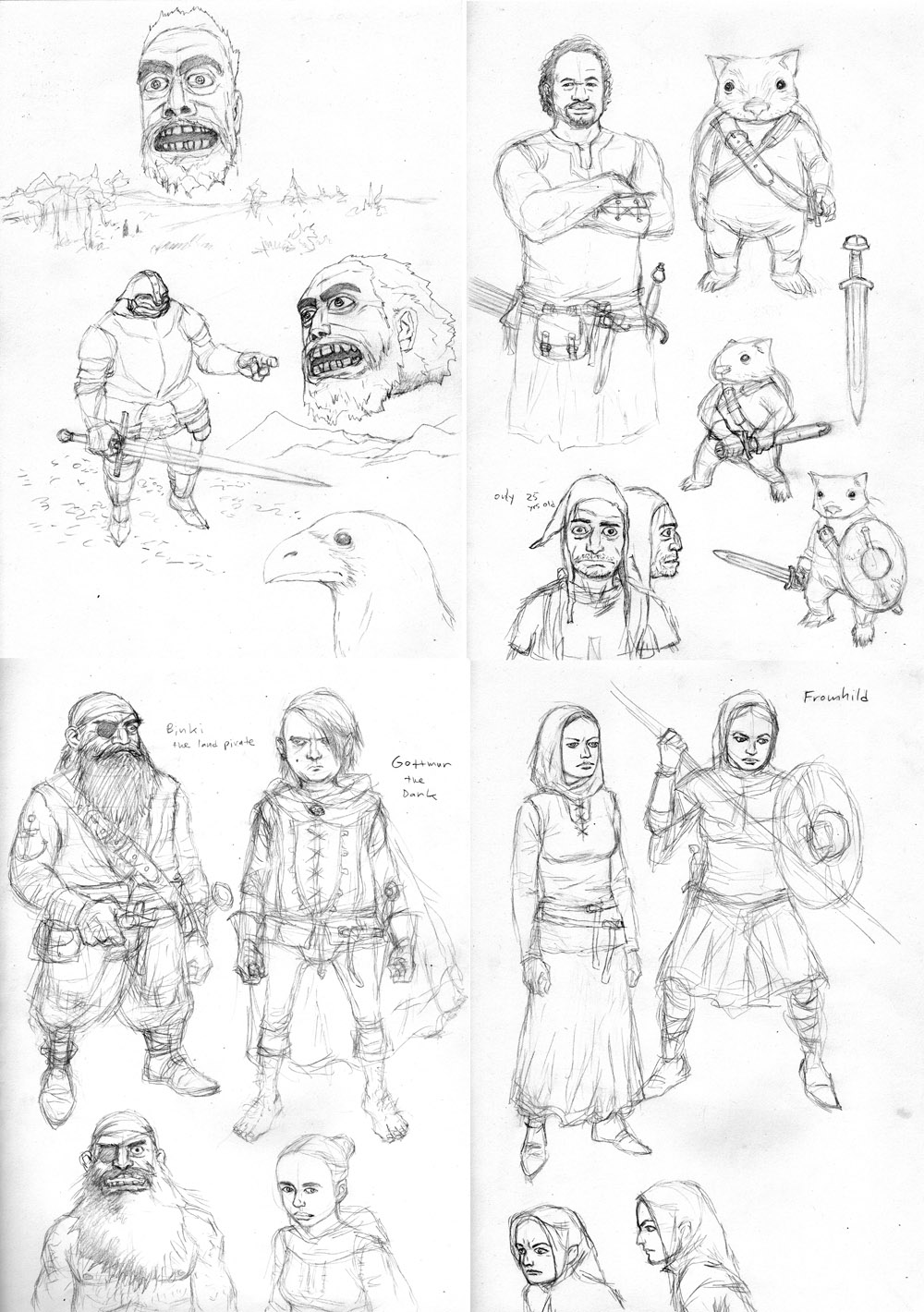 Fellowship of the Short concept drawings