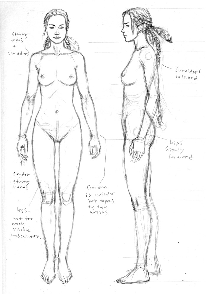 Elf Front & Side Orthographic Views